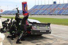 The No. 54 Monster Energy Crew pits at Chicagoland Speedway