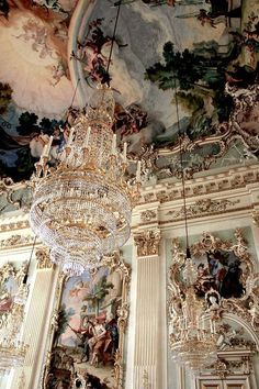 Architectural details inside Nymphenburg Palace in Munich, Germany. I've act… Architectural details inside Nymphenburg Palace in Munich, Germany. Munich is a Paradise for palace-lovers Classy Aesthetic, Travel Aesthetic, Aesthetic Vintage, Aesthetic Photo, Aesthetic Art, Aesthetic Pictures, Baroque Architecture, Collage Architecture, Beautiful Architecture