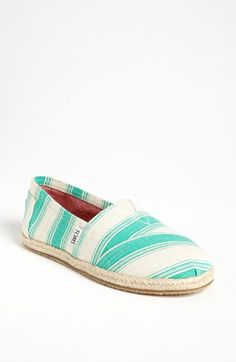 TOMS 'Classics - Umbrella Stripe' Slip-On (Women) available at #Nordstrom.     Cute summer style