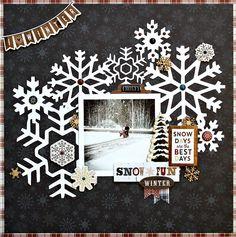 Snow fun - Carta Bella Paper - Cabin Fever Collection #Snow