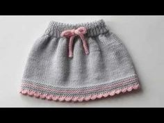 Baby skirt knitted baby skirt merino wool skirt grey and pink skirt MADE TO ORDER Frock Patterns, Baby Clothes Patterns, Baby Knitting Patterns, Hand Knitting, Knit Baby Dress, Crochet Baby Clothes, Big Knits, Winter Dresses, Girls Dresses