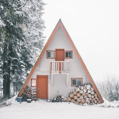 red and white a-frame cabin / sfgirlbybay
