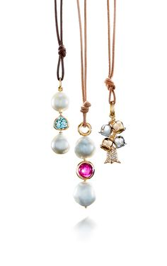 Pearl and Gemstone Pendants