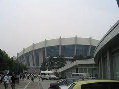Shangai stadium Olympic Venues, Shanghai, Olympics, Multi Story Building, Street View, China, Porcelain