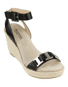 Michael by Michael Kors Greta Espadrille Black Wedge Sandals. A gorgeous must have for summer,they go with everything! <3 mine!