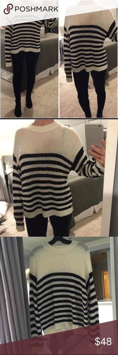 NWT Super Cute Nordstrom BP Striped Sweater - L NWT Nordstrom BP Striped Sweater $48 - size Large. Brand new w tags. From Nordstrom. RETAIL:$88 bp Sweaters