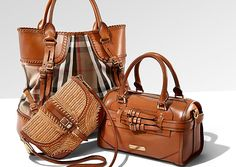 Crazy about Burberry!!!! Love the brown in all of these purses and the detail with the little belts.