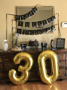 Super Party Birthday For Him Ideas - Geburtstag 30th Birthday Party For Him, Husband 30th Birthday, 30th Birthday Themes, Birthday Themes For Adults, Birthday Presents For Him, 30th Party, Diy Birthday Surprise, Birthday Surprise For Boyfriend, 30th Birthday Ideas For Girls