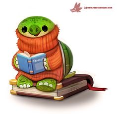 Daily Paint #1215. Turtleneck by Cryptid-Creations.deviantart.com on @DeviantArt