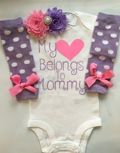 Baby Girl outfit - Newborn baby clothes - My heart Belongs to Daddy -My Heart Belong to Mommy- coming home outfit-Preemie outfit-PURPLE PINK Preemie Clothes, Newborn Girl Outfits, Coming Home Outfit, Everything Baby, Baby Time, Cute Baby Clothes, Babies Clothes, Baby Girl Fashion, Future Baby