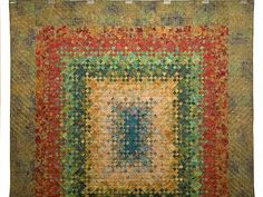 I love tiny squares!!!     Golden Multicolor Blooming Nine Patch Quilt Photo 2