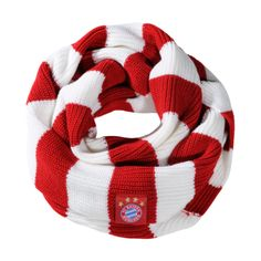 FC Bayern Knitted loop scarf red/white - Official FC Bayern Online Store