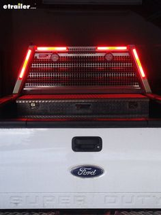 Add some extra light to your Ford F-250 or F-350 pickup truck! Sealed, surface mount, red LED stop/turn/tail light are designed to fit narrow places, like the headache rack on your truck.