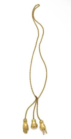 """""""Monserat De Lucca Rock Paper Scissors Necklace"""" I have something that looks exactly like this! But I'd LOVE to have the original. Necklace Set, Gold Necklace, Lucca, Jewelry Box, Jewelery, Jewelry Accessories, Fashion Accessories, Fashion Jewelry, Rings"""