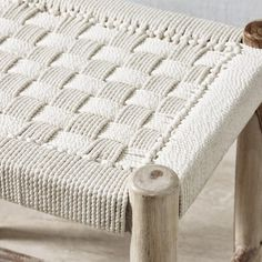This wonderful Woven Stool is crafted from Indian Sheesham wood, known for its superior strength and rustic appearance. Its natural markings and hand-woven technique mean each piece has a unique charm and artisanal feel. With a woven, plaited texture, Low Stool, Bench Stool, Rustic Stools, Bar Stools, Dressing Table Seat, The White Company, Merino Wool Blanket, Benches, Hand Weaving