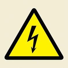 Marine Hazard Sign: Electrical Symbol