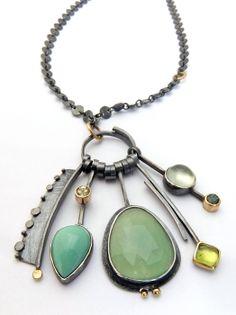 Mint Green Cluster Necklace Sydney Lynch