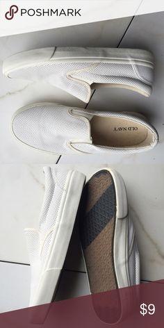 Old Navy basic white loafer sneakers, Sz 8, nice! Old Navy basic white loafer sneakers, Sz 8, nice! Good condition. Old Navy Shoes Sneakers