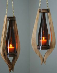 This beautiful Sangria Glow Hanging light will bring a elegant warmth into your home and outdoor area! The rich ambiance it exudes makes you feel like the fall season is upon us! Standard gold chains are 18L but can be customized to fit perfectly in your home. Candles not included.  To put the candle into the glass portion of the light you will lift the bottle straight upwards though the top circle portion so that there is enough space to put your candle and holder onto the circular base…