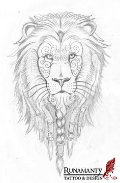 67a91d757 Lion Tattoo Design, Tattoo Designs, Tattoo Ideas, Blackwork, Dreads, Family  Crest