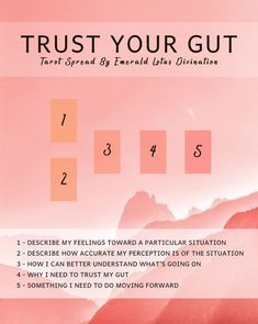 This tarot spread will not only help you trust your gut feeling but also give clarity to a situation that you might be having a hard time understanding.
