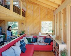 This small, off-grid, sustainable cabin on Ragged Island twenty miles from the coast of Maine was the brainchild of the owner's architectural designer daughter, Alex Scott Porter, who designe…