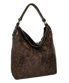Another great find on #zulily! Chocolate First Class Leather Hobo #zulilyfinds