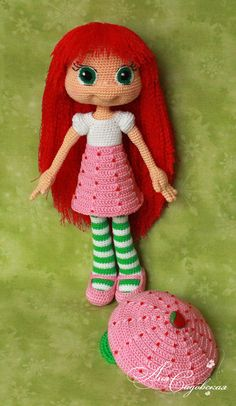 Strawberry Shortcake  Amigurumi Crochet Pattern PDF file by