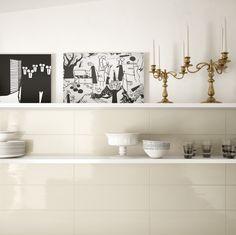 Edilcuoghi Natural Oak /Edilcuoghi Tone. FLOOR_Natural Oak GY309 15x90 WALL_Tone WT002 20x60. #table #contemporary #light #sun #wood #effettolegno #design #gres #edilcuoghi #kitchen #candle #art