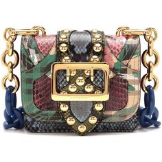 5f7f48cd26187 ... Colors  multicoloured Available Sizes  One size fits all DETAILS The  Buckle multicoloured embellished leather and snakeskin shoulder bag by  Burberry