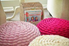 Crochet flower pouf nr3 Jip by Jan