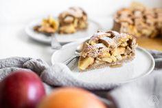 Americká klasika ve fit verzi: Apple pie s vůní skořice a vanilky Apple Pie, Sweet Recipes, Cereal, Cooking, Breakfast, Fitness, Food, Kitchen, Morning Coffee