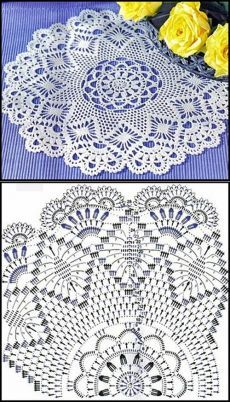 Crochet Tablecloth Pattern, Free Crochet Doily Patterns, Crochet Snowflake Pattern, Crochet Doily Diagram, Crochet Snowflakes, Crochet Cross, Crochet Chart, Thread Crochet, Crochet Motif