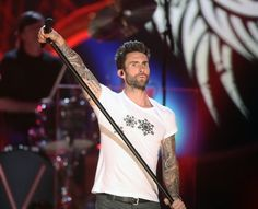 The Maroon 5 frontman performed with his band on A Very GRAMMY Christmas in LA this week. Picture: Getty
