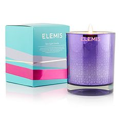Elemis Spa Light Candle: Soothe the mind with beautiful aromatics of vanilla, while uplifting with orange and cinnamon spices at timetospa.com