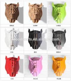 Wooden Rhino Head wall decoration piece making, View animal head wall decoration, IWood Product Details from Guangzhou iWood Crafts Co., Limited on Alibaba.com