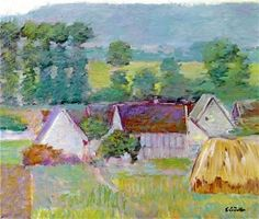 Farmhouses in Autumn, Giverny Theodore Earl Butler - Date unknown