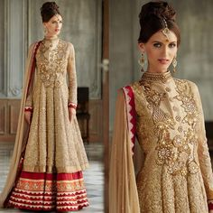 Online Shopping for CHIKOO WEDDING ANARKALI DRESS KMV10 | Designer Collections | Unique Indian Products by Stylish Bazaar - MSTYL43489498760