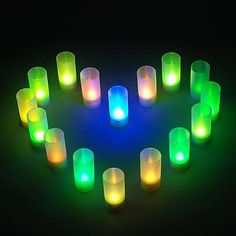 Romantic Candle Shaped Colorful LED Night Light for Wedding Party Gifts (8-Pack), Free Shipping On All Gadgets!