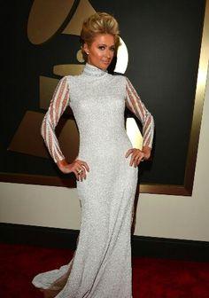 Paris Hilton grammy awards dress
