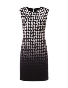 MONTEGO Kleid mit Hahnentrittmuster mit Farbverlauf in Grau / Schwarz online entdecken (9471236) | P&C Online 50 €