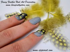 TIRNAK TÜYLERİ ( Fancy Feather Nail Art Decoration )  Full post here : http://yelizimtrakesintiler.blogspot.com/2013/08/tirnak-tuyleri-fancy-feather-nail-art.html  Use the nail art product here :  http://www.bornprettystore.com/5pcs-fancy-feather-nail-decoration-colors-p-160.html  Use the code  AIBQ10  for a 10% discount!