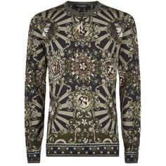 Dolce & Gabbana Long Sleeve Printed Henley T-Shirt (22.575 RUB) ❤ liked on Polyvore featuring men's fashion, men's clothing, men's shirts, men's t-shirts, mens leopard print t shirt, mens print shirts, mens patterned t shirts, mens patterned shirts and mens long sleeve henley shirts
