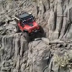 Jeep on a cliff video - You are in the right place about Jeeps stickers Here we offer you the most beautiful pictures abou - Jeep Wrangler Unlimited, Wrangler Jeep, Jeep Tj, Jeep Wranglers, Suv Cars, Jeep Cars, Jeep Truck, 4x4 Trucks, Auto Jeep