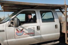 Jacques Lagrange driving one of our custom made work trucks.