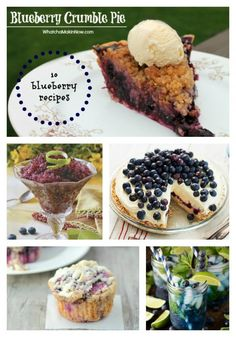 Blueberry Recipes @joyfulscribblings