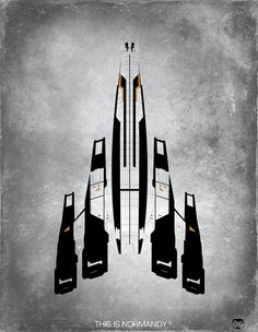 "Mass Effect ""This Is Normandy"" Fan Art Portrait Prints by Rameez Quadri"