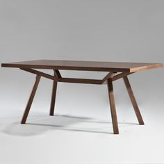 QUICK SHIP - Sean Dix Collection Forte Rectangular Dining Table - Wood Top