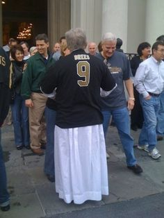 Our Priest during the Saints Super Bowl win