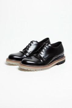 Burnished Derby Shoe Black - Lanvin